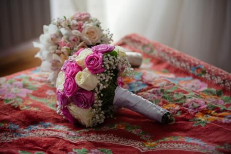 bedroom, wedding bouquet, rose, flower, decoration, bouquet, cushion, bride, arrangement, wedding