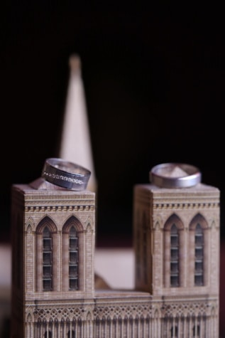 miniature, wedding ring, close-up, rings, architecture, old, religion, light, art, tower