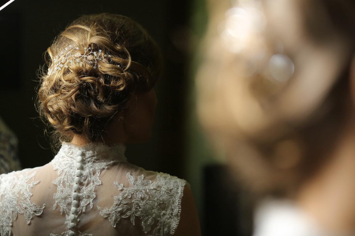 hairstyle, glamour, blonde, lady, salon, bride, elegance, wedding dress, luxury, wedding