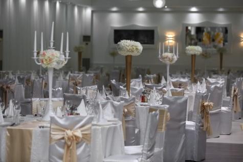 Hochzeitsort, leere, Zimmer, Zeremonie, elegant, Dekoration, Restaurant, Hochzeit, Möbel, Luxus