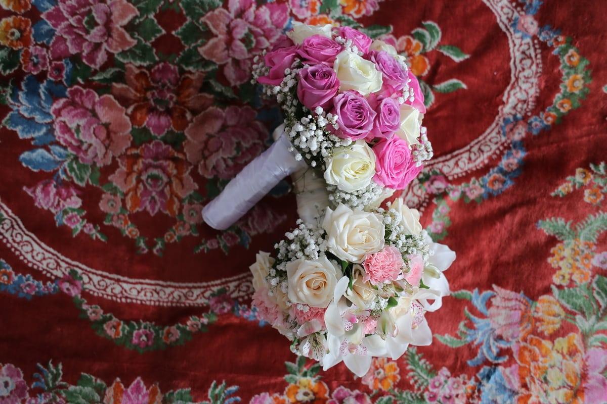 Blumenstrauß, Blume, Dekoration, stieg, Kunst, Hochzeit, Blatt, Design, Farbe, Muster
