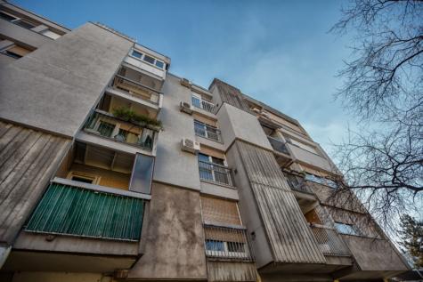 socialismus, architektonický styl, budova, balkon, fasáda, realitní, architektura, dům, městský, město