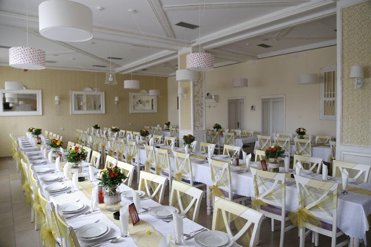 restaurant, salle à manger, vide, à manger, à l'intérieur, table, meubles, chaise, Création de, cafétéria
