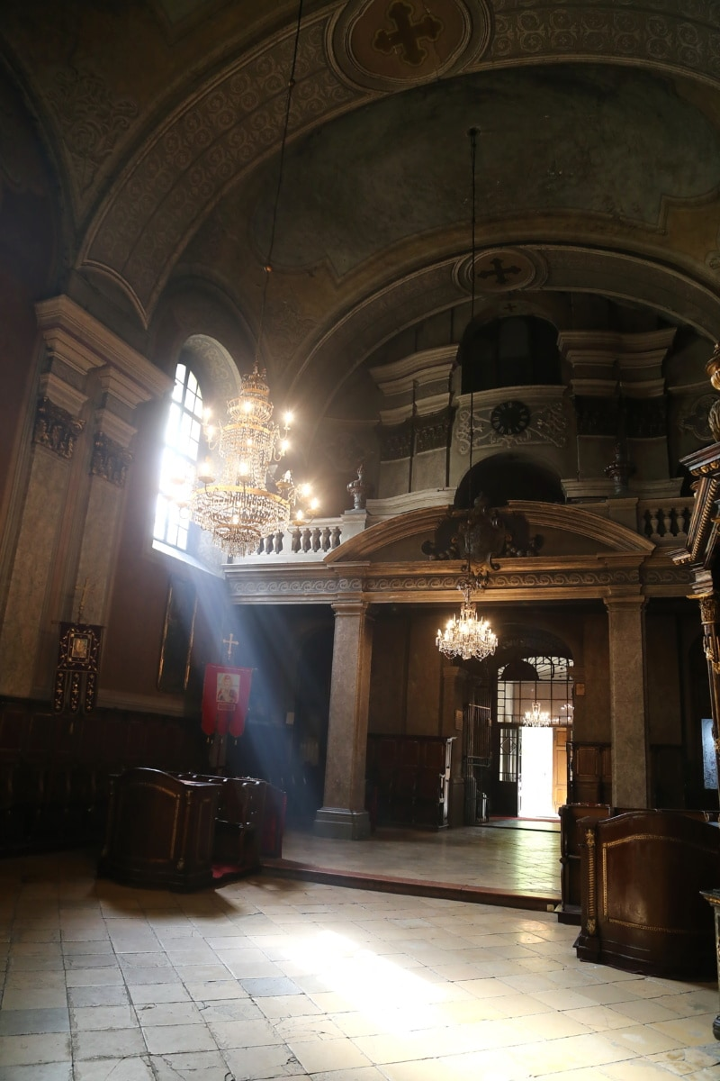 sunrays, church, inside, interior decoration, spirituality, empty, building, architecture, cathedral, religion