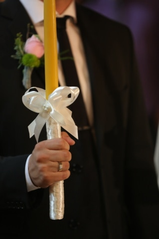 groom, holding, candle, wedding, ceremony, man, indoors, love, portrait, festival