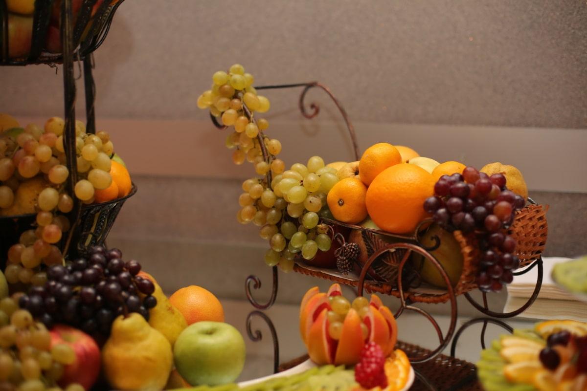 frisch, Apfel, Essen, Obst, Trauben, Still-Leben, Banane, Pfirsich, Gesundheit, Birne