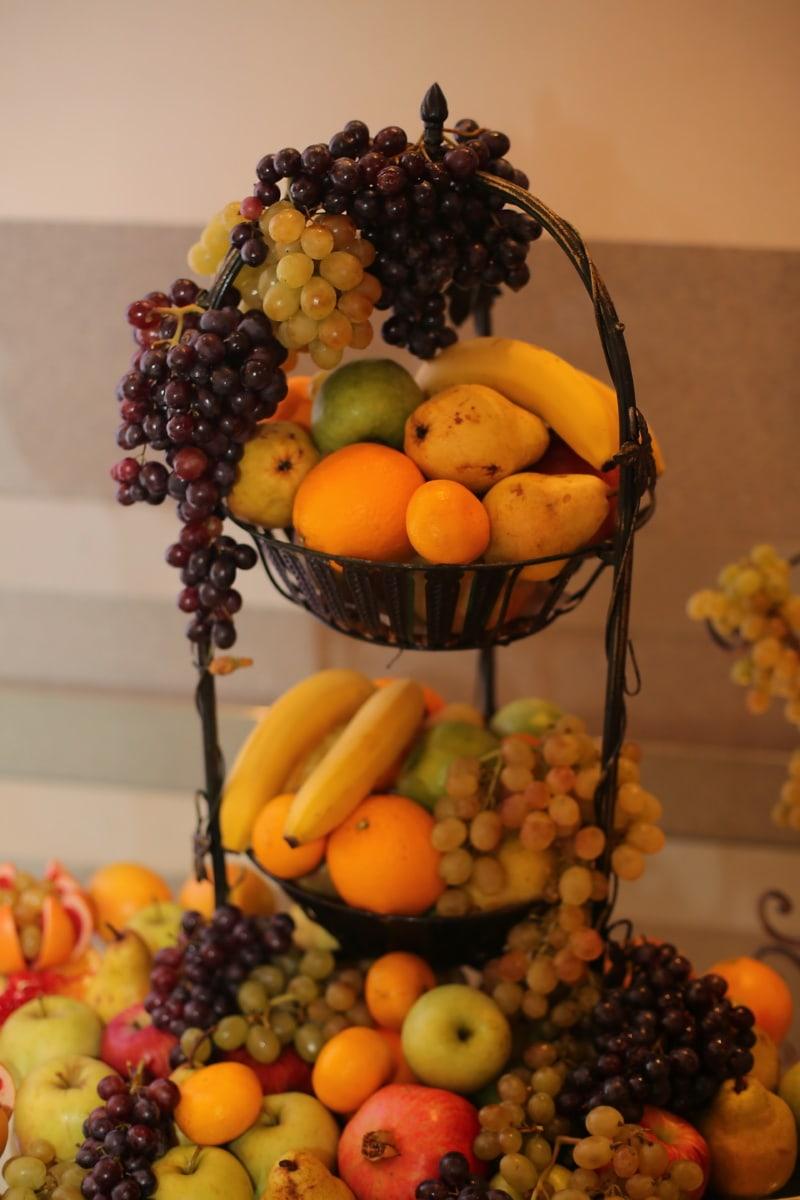 nature morte, Mandarin, fruits, agrumes, en bonne santé, pomme, alimentaire, raisin, banane, santé