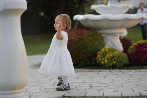 toddler, pretty girl, baby, dress, white, flower, girl, people, outdoors, portrait