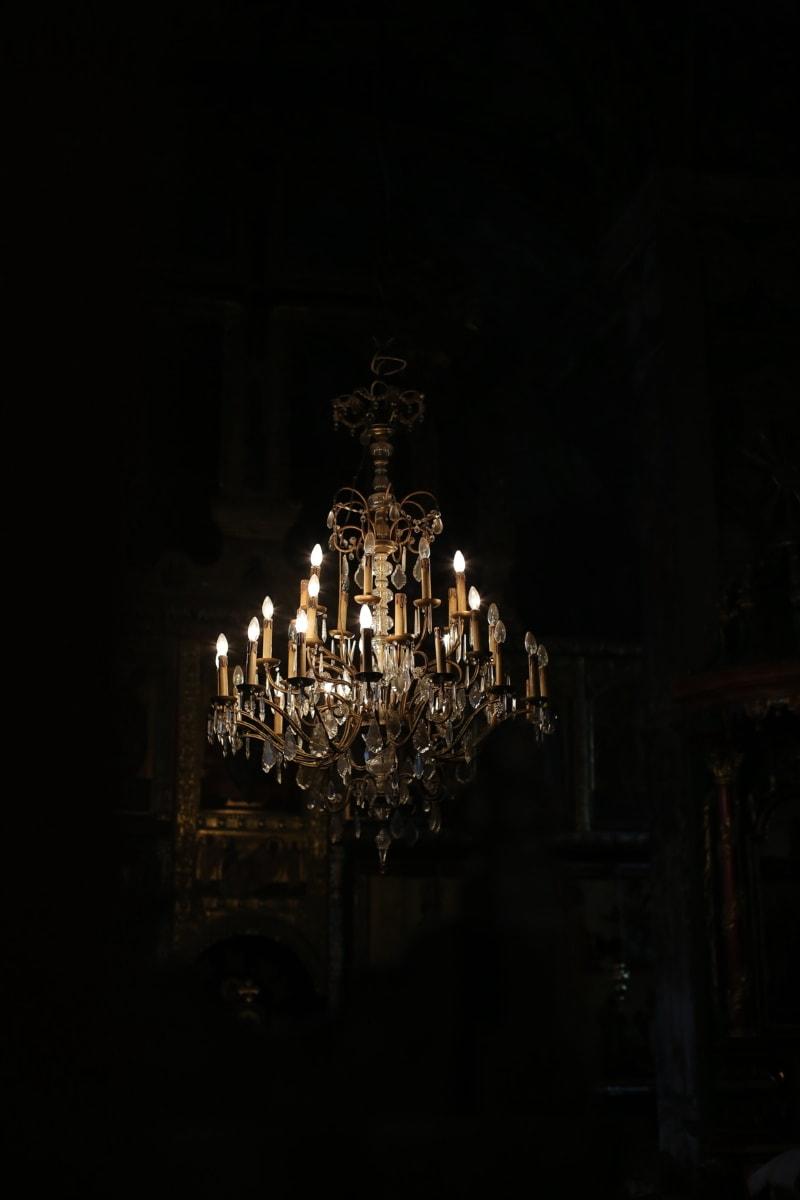 Обработка, Люстры, фары, тьма, люкс, дворец, номер, архитектура, свет, построение