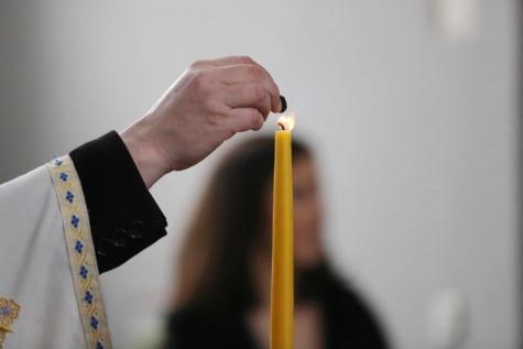 Gebet, Priester, Kerze, Candle-Light, Hand, Arm, Menschen, Mann, Kunst, Malerei