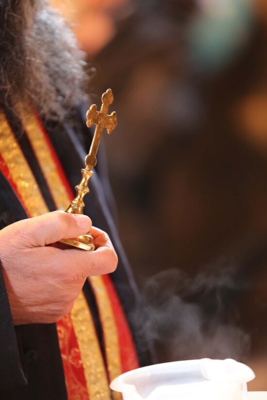 cross, baptism, priest, holding, close-up, object, hand, religion, chain, spirituality