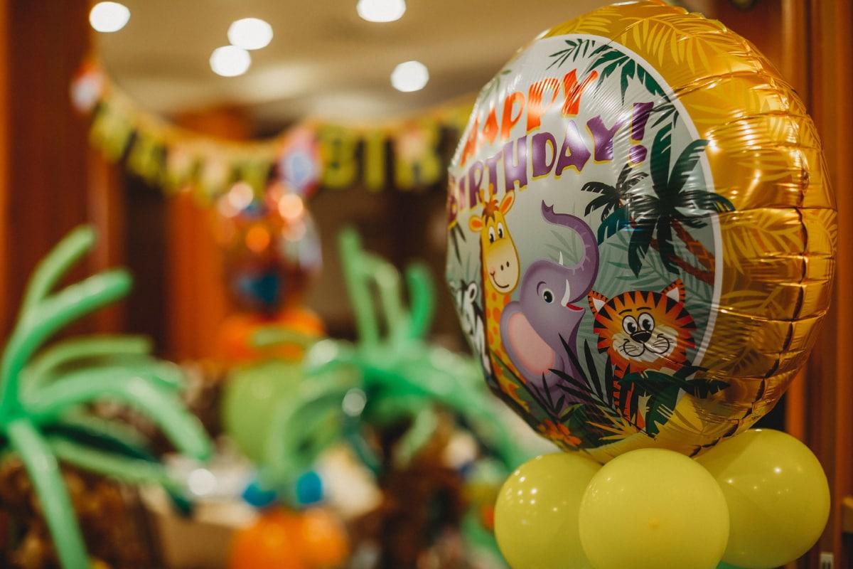 happy, birthday, party, balloon, ball, fun, decoration, celebration, interior design, bright