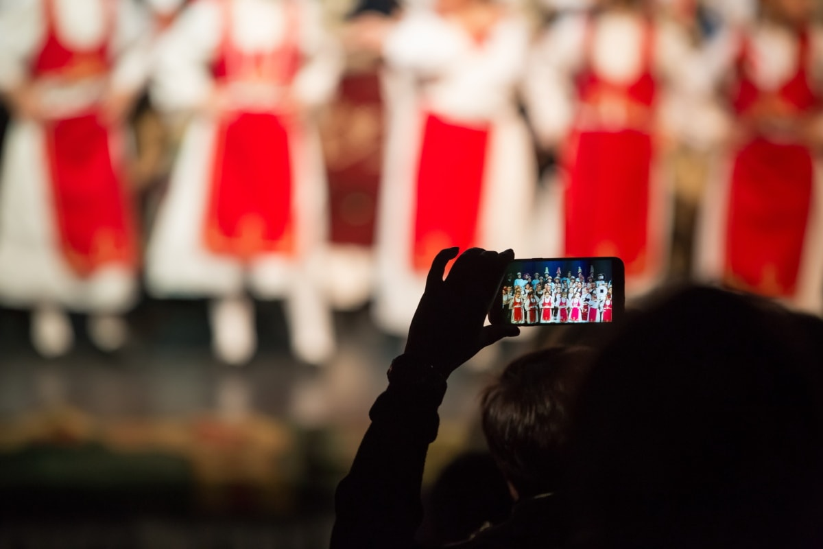 mobile phone, video recording, audience, spectator, people, many, crowd, recreation, photographer, person