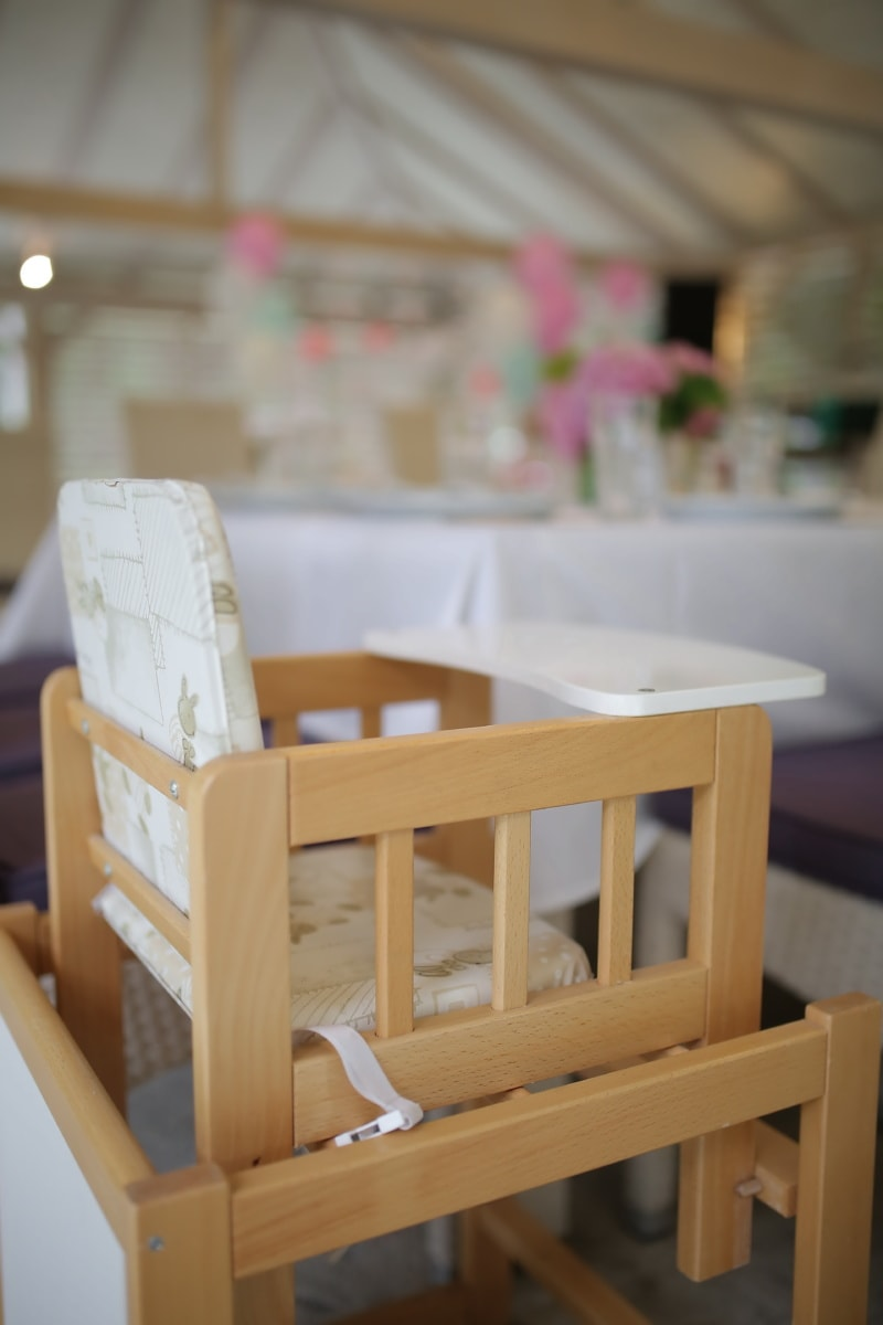 baby chair, chair, wooden, furniture, carpentry, handmade, miniature, wood, room, indoors