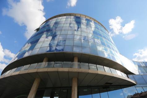 style architectural, moderne, courbe de, Création de, futuriste, couvrant, structure, architecture, planétarium, contemporain