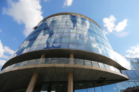 architectural style, modern, curve, building, futuristic, covering, structure, architecture, planetarium, contemporary
