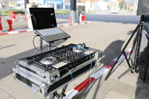 music, mixer, laptop computer, device, sound, equipment, computer, technology, laptop, street