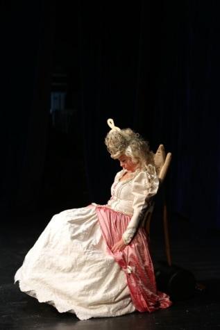Dornröschen, Queen, hübsches mädchen, schlafen, Oper, Kostüm, Porträt, Performance, Musik, Theater