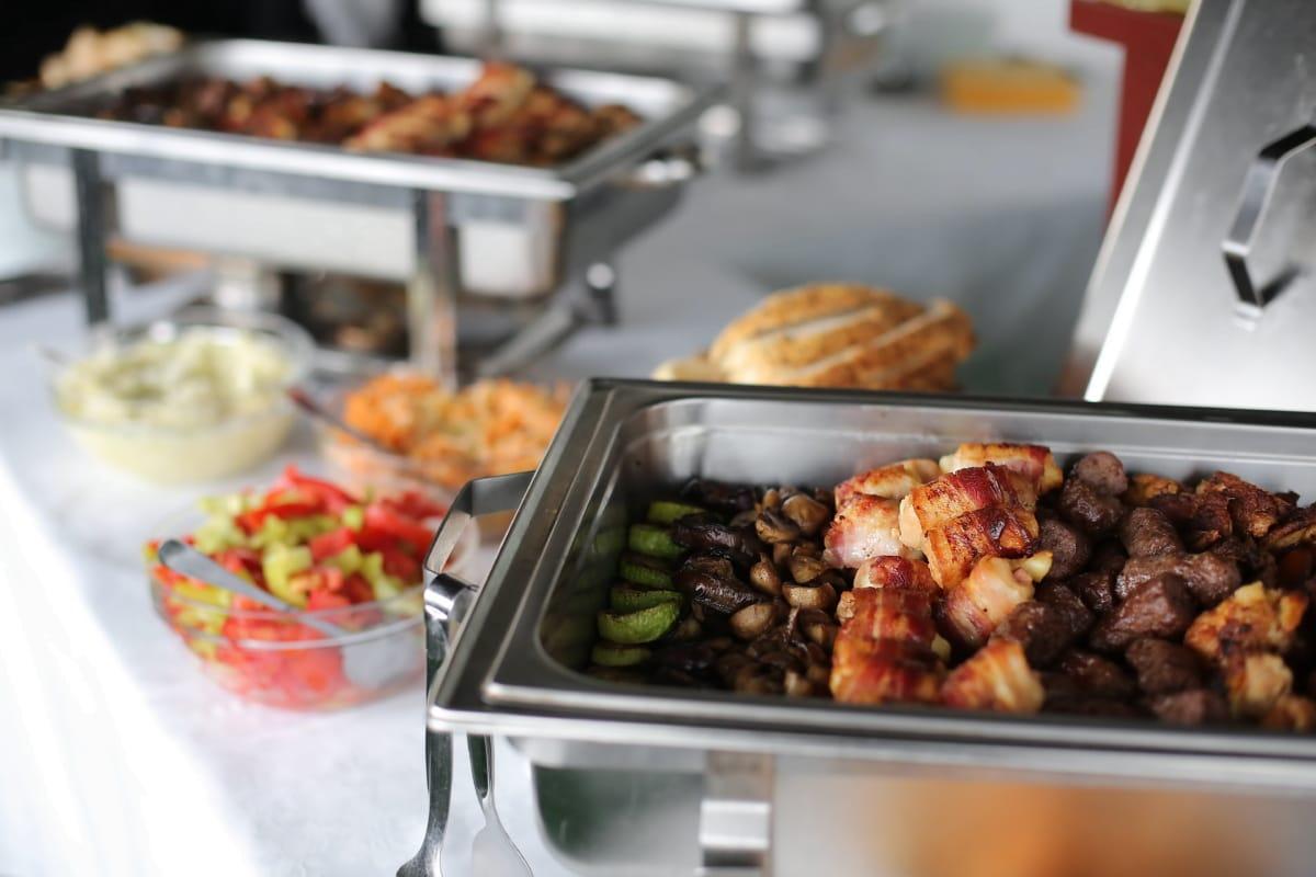 蘑菇汁, 肉, 猪肉, 蘑菇, 烧烤, 餐桌, 牛肉, 厨房, 顿饭, 餐饮