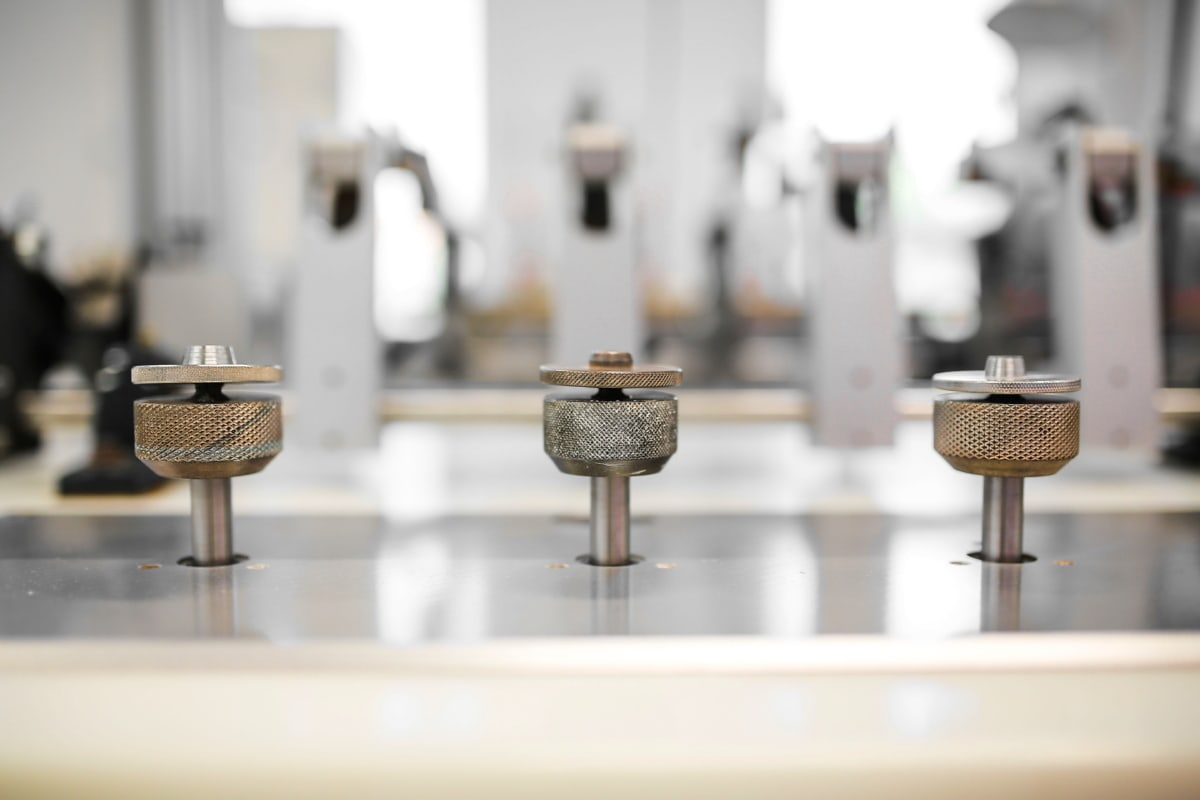environnement de production, Factory, précision, pièces, machine, à l'intérieur, brouiller, meubles, en acier, chambre
