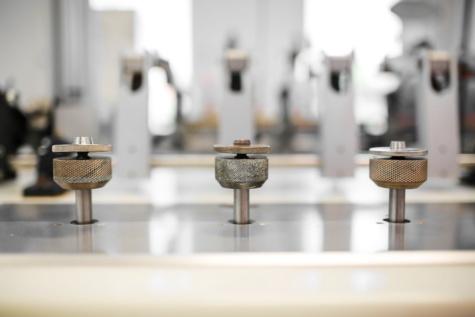 produktion, fabrik, precision, delar, maskin, inomhus, oskärpa, möbler, stål, rum