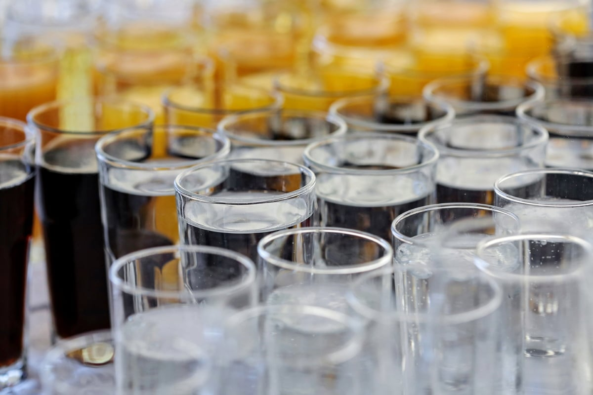 eau douce, consommation d'alcool, verre, boisson, jus de, jus de fruits, boisson, parti, froide, restaurant