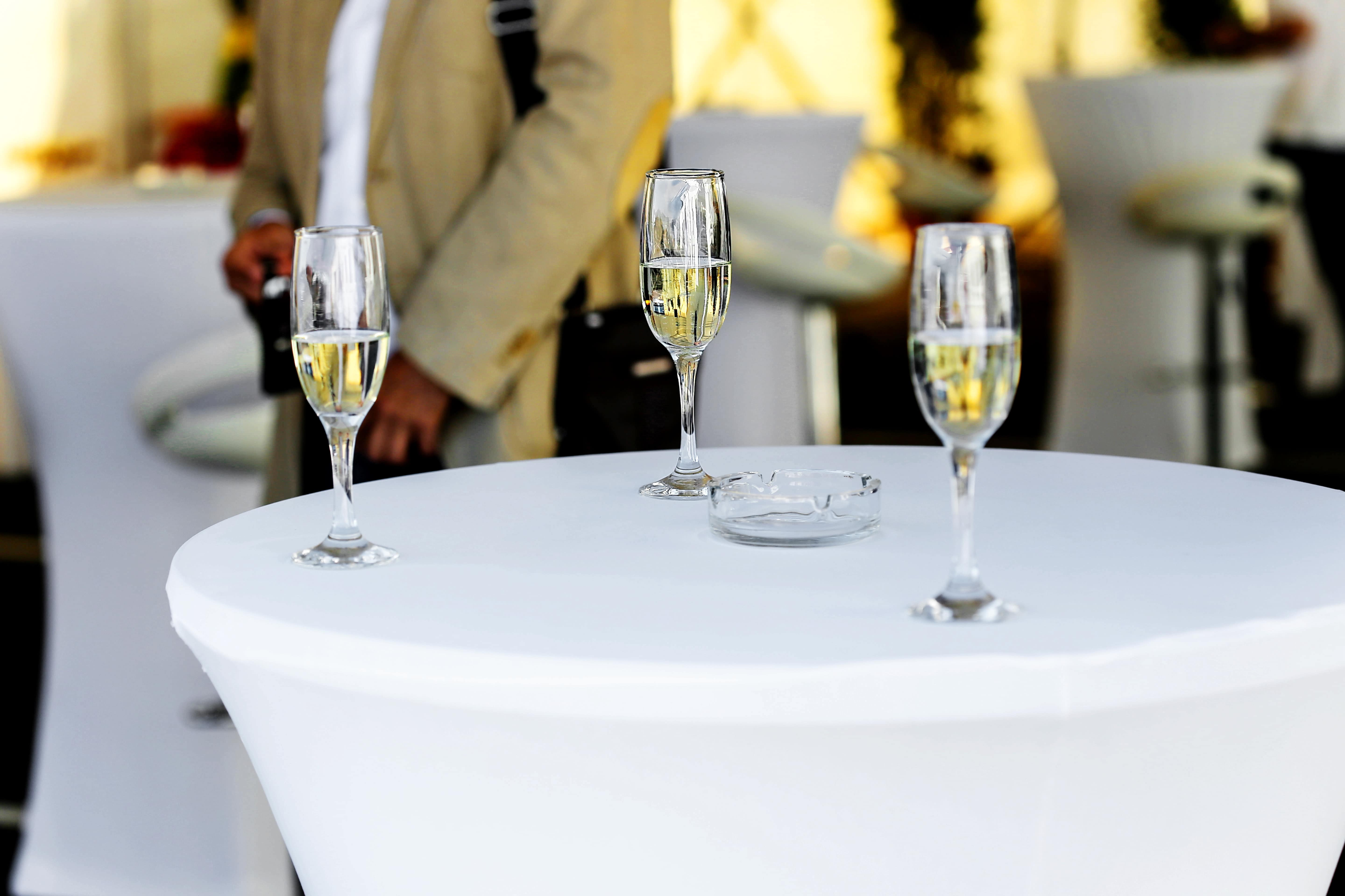 Free Picture Tablecloth Table White Wine Glass Champagne Party Alcohol Wine Dining Drink