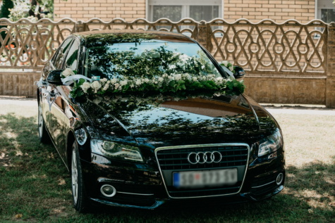 Audi, black, wedding, ceremony, sedan, luxury, car, classic, vehicle, transport