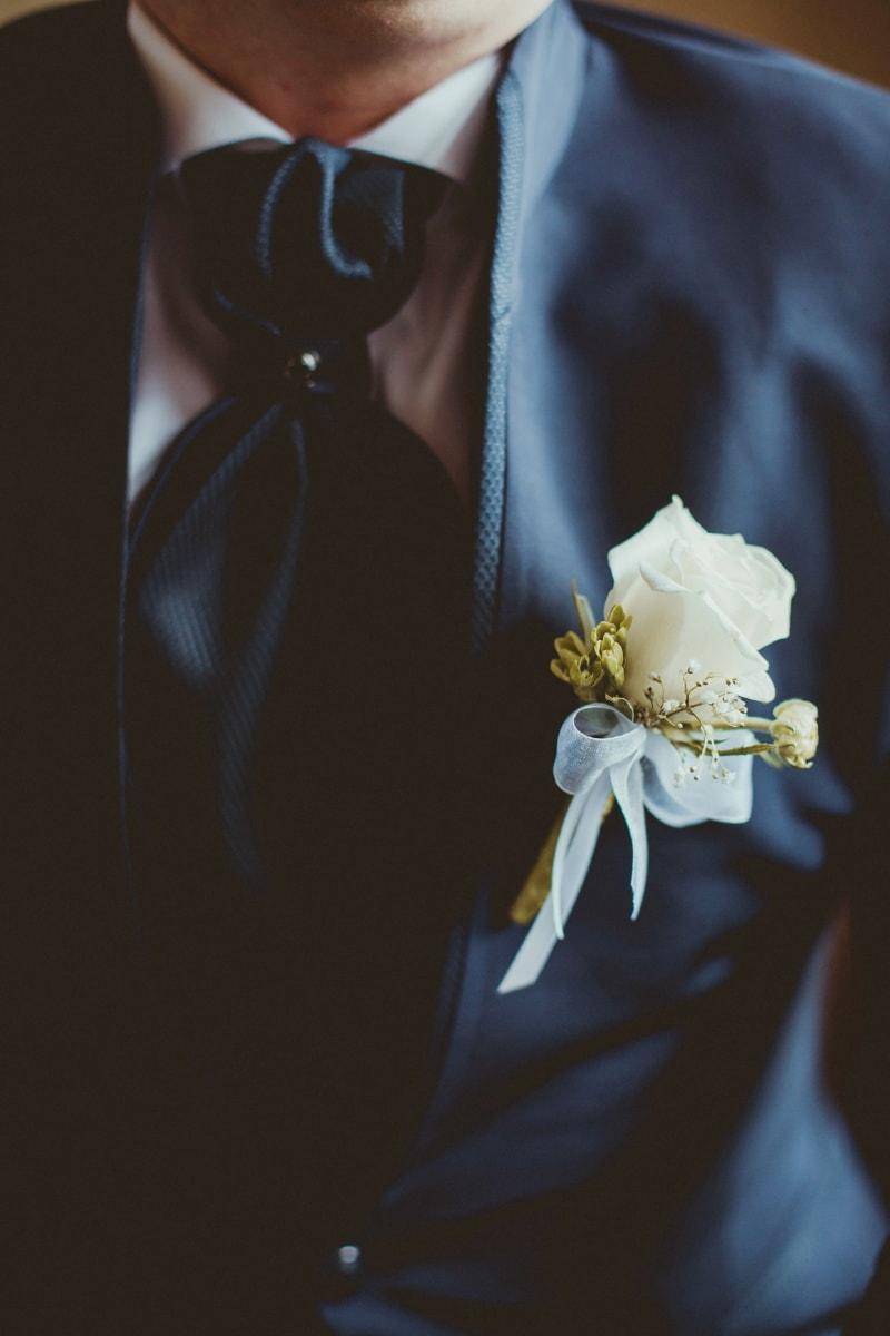 γαμπρός, διακόσμηση, κοστούμι, λευκό λουλούδι, γραβάτα, άνθρωπος, λουλούδια, Γάμος, λουλούδι, τελετή