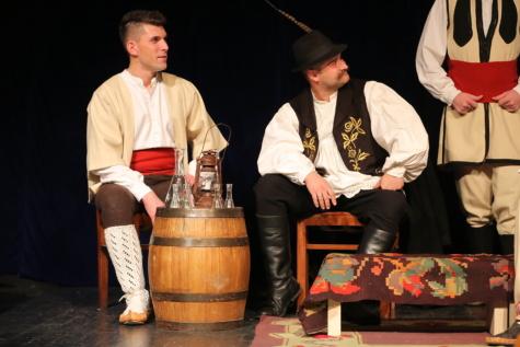 traditionnel, Serbie, populaire, Hommes, costume, homme, gens, Théâtre, femme, Portrait