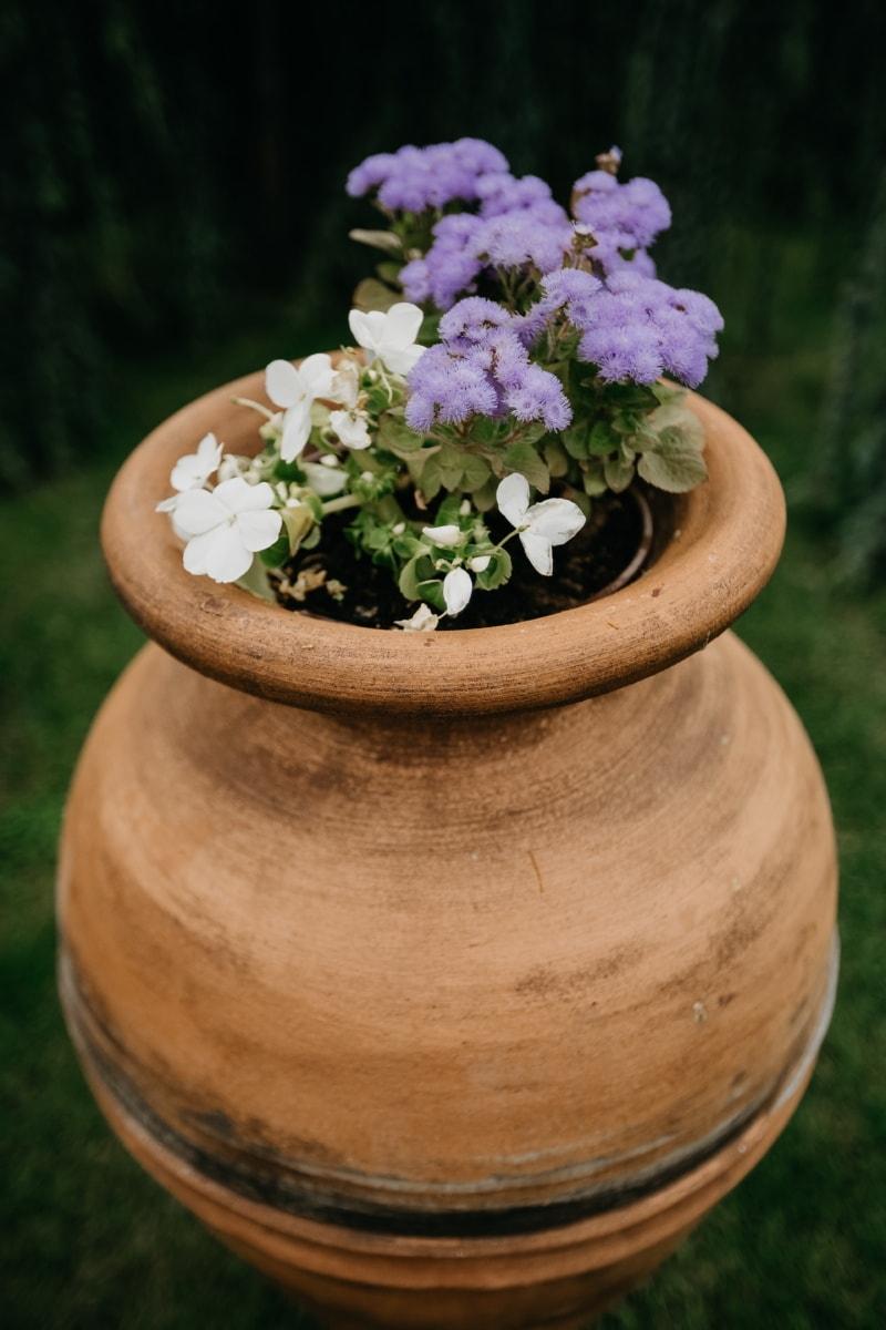 fait main, en terre cuite, pot de fleurs, artisanat, traditionnel, fleurs, nature, conteneur, fleur, été