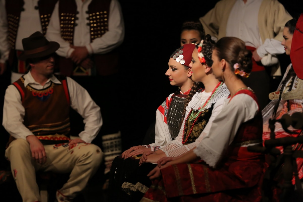 costume, folk, Serbia, people, traditional, music, man, theatre, woman, dancing