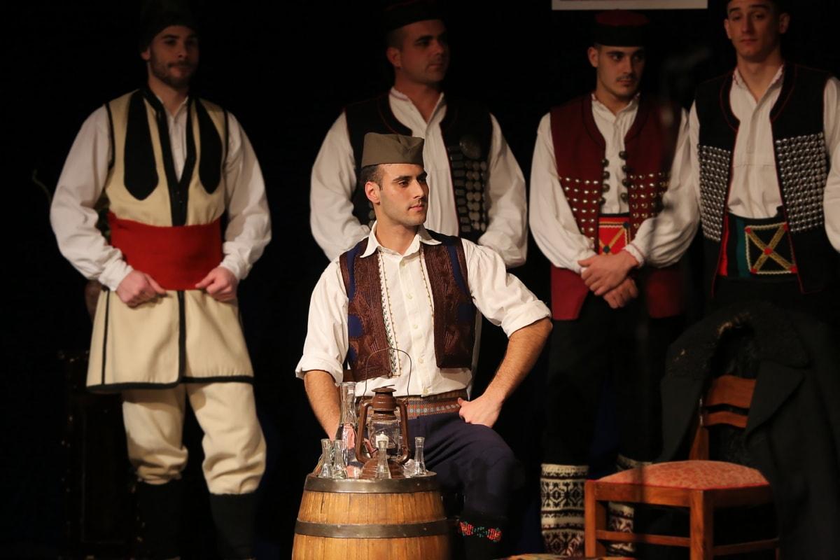 populaire, costume, Hommes, Beau, Serbie, Théâtre, gens, homme, performances, Portrait