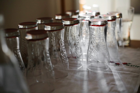 close-up, crystal, empty, restaurant, glass, glassware, cafeteria, container, studio, still life