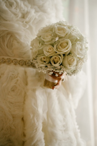 wedding dress, handmade, dress, elegant, wedding bouquet, sepia, bouquet, wedding, bride, rose