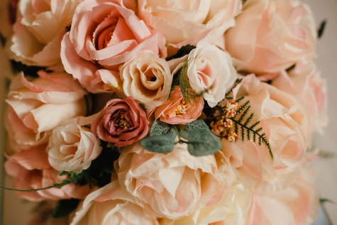 roses, bouquet, pinkish, pastel, marriage, rose, romance, love, wedding, groom