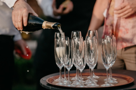 champagne, white wine, glassware, celebration, bottle, crystal, alcohol, drink, party, wine