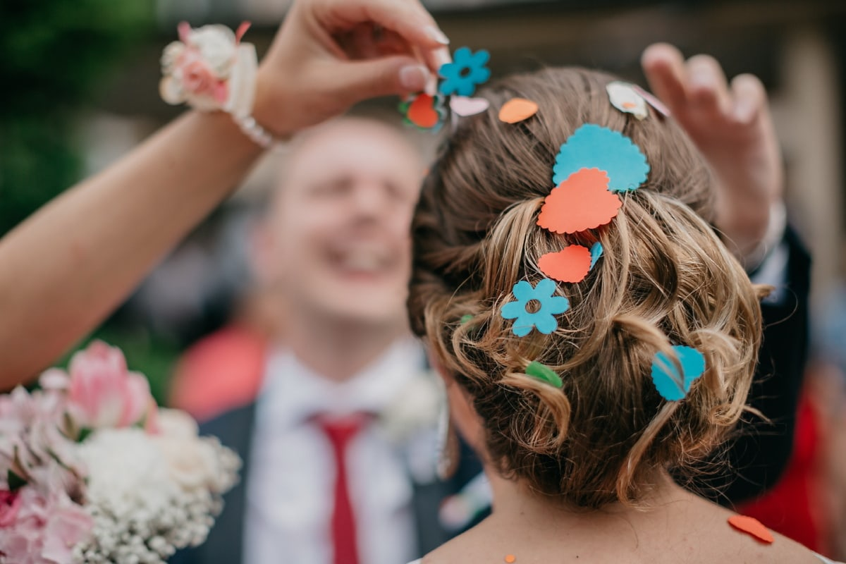 hairstyle, colorful, hair, woman, lady, fashion, people, pretty, cute, wedding