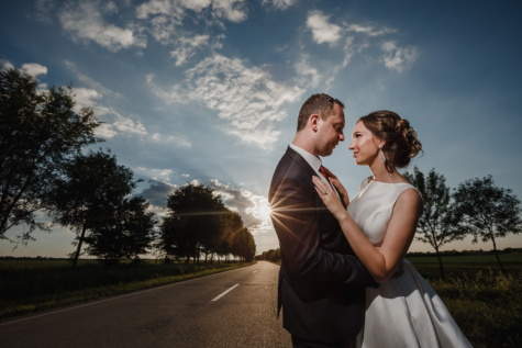sunset, romantic, road, sunrays, bride, groom, man, love, businessman, wedding