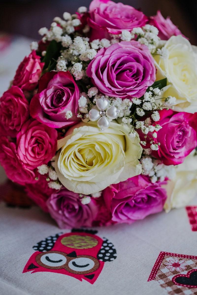bouquet de mariage, amour, arrangement, fleur, Rose, décoration, bouquet, des roses, romance, mariage