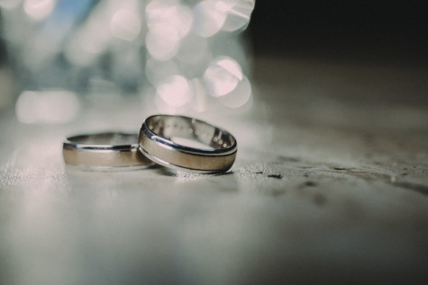 wedding ring, close-up, sepia, platinum, backlight, wedding, blur, engagement, love, reflection