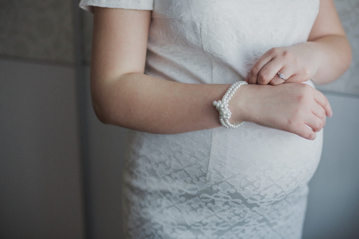 pearl, bride, bracelet, pregnancy, stomach, jewelry, woman, body, girl, towel