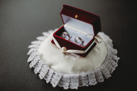 gift, wedding ring, rings, box, love, elegant, wedding, still life, romance, jewelry