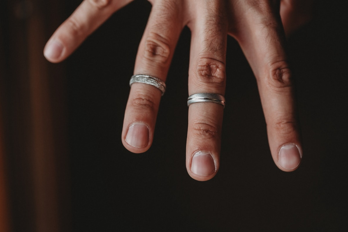 hand, man, close-up, rings, finger, manicure, skin, tissue, love, people
