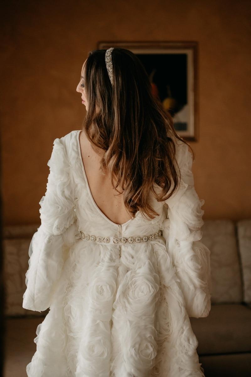 Salon, modèle photo, robe de mariée, Jolie fille, la mariée, mariage, robe, jeune fille, mode, femme