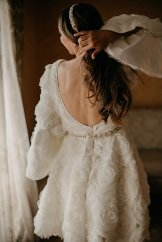 wedding dress, handmade, gorgeous, young woman, hairstyle, brunette, bride, portrait, dress, girl