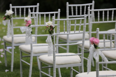 white, wedding venue, elegance, chairs, patio, empty, backyard, furniture, seat, chair