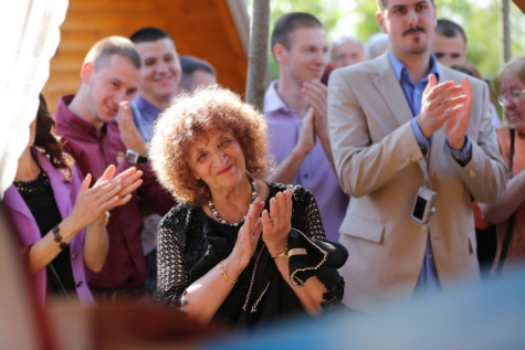 oklaski, Babcia, Babcia, ludzie, celebracja, tłum, twarz, portret, wesoły, Doping