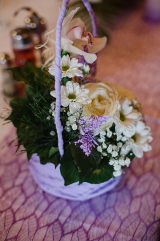 orchid, wicker basket, bouquet, arrangement, white flower, roses, flowers, flower, decoration, rose