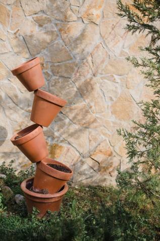 вертикални, керамика, саксия, баланс, теракот, Дзен, Грънчарство, камък, керамични, листа